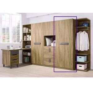 【森可家居】佛羅倫斯2.5尺單吊衣櫥(單只) 7HY86-5 衣櫃 木紋質感 衣物收納