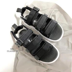 CLASSICK- New Balance NB 750 涼拖鞋 黑白 LOGO 男女鞋 涼鞋 魔鬼氈 休閒 舒適 輕量 SDL750BW