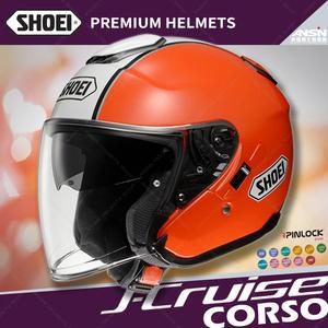 [中壢安信]日本 SHOEI J-Cruise 彩繪 CORSO TC-8 橘白 半罩 安全帽 四分之三 內遮陽片