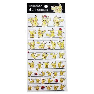 【卡漫城】 皮卡丘 貼紙 ㊣版 日本製 裝飾貼 Pokemon 神奇寶貝 寶貝球 閃電鼠 pika 小智 夥伴
