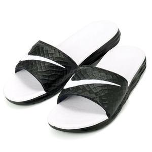 NIKE WMNSBENASSI SOLARSOFT 運動拖鞋 軟底GD黑白 熊貓 女鞋 705475-010【Speedkobe】