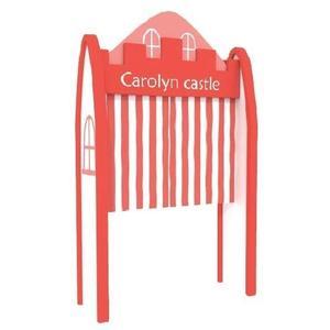 【兒童 書 桌 椅 教具 家具】馬卡龍城堡入口(紅)