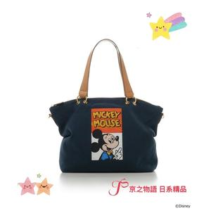 【京之物語】現貨-日本Samantha Thavasa迪士尼系列米奇大容量2WAY手提包 肩背包