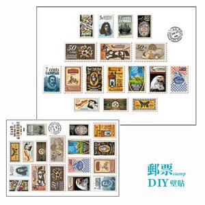 壁貼 壁紙 郵票貼紙 電視牆【Q013】