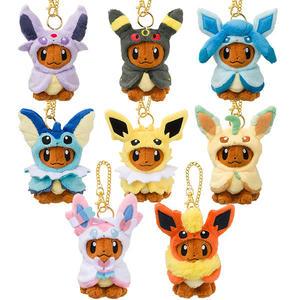 伊布 娃娃吊飾 玩偶 Pokemon 寶可夢 神奇寶貝 日本正品 該該貝比日本精品 ☆