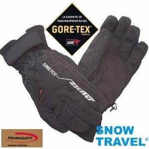 SNOW TRAVEL 德國頂級GORE-TEX+PRIMALOFT防水防寒專業手套 /黑/AR-62