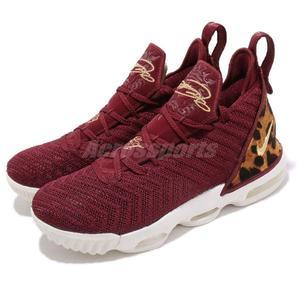 Nike Lebron XVI GS King 紅 金 豹紋 16代 襪套式 氣墊 籃球鞋 女鞋 大童鞋 運動鞋【PUMP306】 AQ2465-601