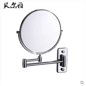 全銅雙面美容鏡化妝鏡浴室鏡子可三倍放伸縮鏡