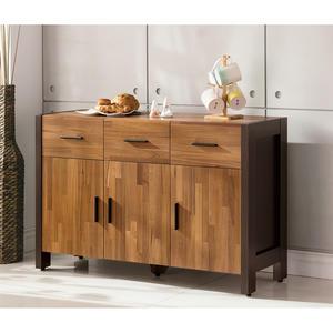 【森可家居】巴菲特4尺餐櫃 8ZX906-3 收納廚房櫃 中島 LOFT復古工業風