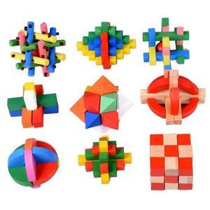 保蒂卡孔明鎖木制益智成人智力解鎖積木玩具學生魯班套裝九連環