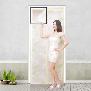 空調擋風門簾 磁性防蚊透明軟門簾保溫透明EVA臥室廚房防油煙門簾