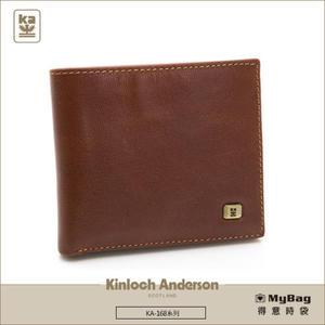 Kinloch Anderson 金安德森  皮夾 紳士品格 純粹棕 橫式基本 牛皮短夾 KA168004BNF  MyBag得意時袋