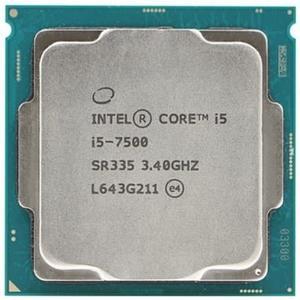 CPU 主機板套餐1 I5-7400/I5-7500 七代 酷睿I5四核散片CPU處理器igo