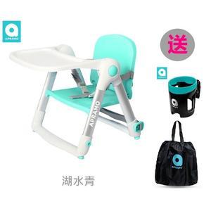 【贈提袋+杯架】英國Apramo Flippa QTI摺疊式兒童餐椅 湖水青【六甲媽咪】