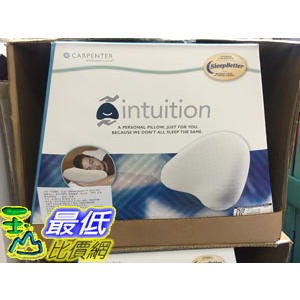 [COSCO代購] CARPENTER INTUITION PILLOW 多功能記憶枕43X35公分 _C773983
