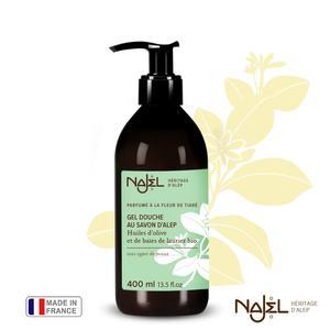 法國Najel阿勒坡古皂液保濕草本沐浴露400ml梔子花暗沉粗糙肌