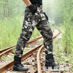 迷彩褲男戰術褲作戰軍褲寬鬆男士軍裝褲子作訓特種兵女工裝褲