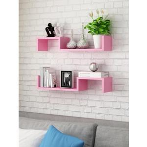 客廳墻上置物架裝飾書架電視墻簡約現代投影儀架壁掛免打孔機頂盒zsx