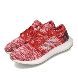 adidas 慢跑鞋 PureBOOST Go J 紅 白 女鞋 大童鞋 運動鞋 【PUMP306】 F34006