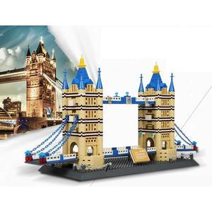 *粉粉寶貝玩具*倫敦塔橋積木~雙子塔橋積木~建築模型~世界著名景點積木系列~1033片~可兼容樂高喔~