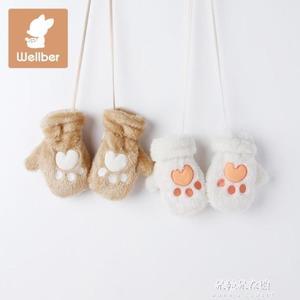 兒童保暖手套冬嬰兒可愛卡通加絨寶寶手套男童女童1-3歲  朵拉朵衣櫥