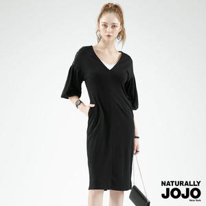 NATURALLY JOJO 典雅花苞袖洋裝