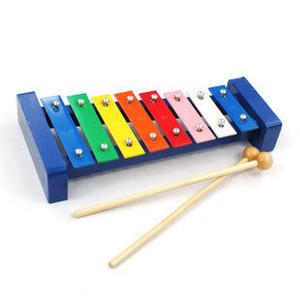 兒童益智玩具 八音階彩色鋼片木琴