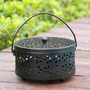 安全實用 鐵藝蚊香盤 帶蓋子 防火防燙  戶外防蚊支架 蚊香盒