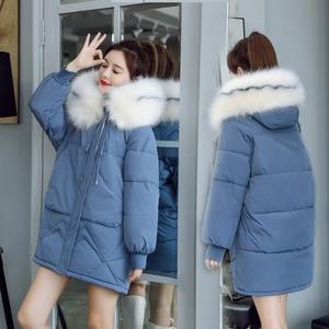 羽絨外套 冬季加厚中長款棉衣韓版寬鬆面包服冬季外套女潮ins超火羽絨棉襖