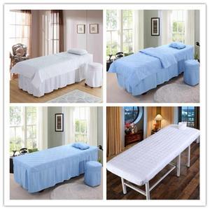 美容床罩 美容四件套美容床罩單件按摩推拿洗頭床專用床罩可訂做  MKS小宅女