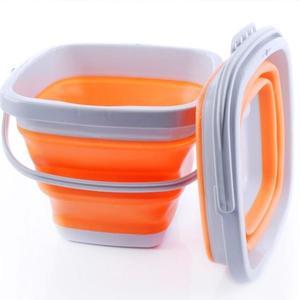 交換禮物 摺疊桶便攜旅行美術軟硅膠伸縮釣魚桶戶外用品儲水桶加厚洗車桶