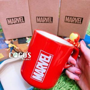 正版 MARVEL 復仇者聯盟 鋼鐵人立體造型 杯緣子 陶瓷馬克杯 杯子 水杯 馬克杯 COCOS SS280