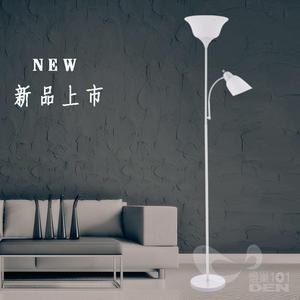 【燈巢1+1】 燈具。燈飾。Led居家照明、桌立燈 工廠批發直營  伊迪斯子母金屬立燈-印象白 08124808