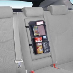 車之嚴選 cars_go 汽車用品【W795】日本 SEIWA 多功能後座中央扶手調整帶固定式飲料置物收納袋