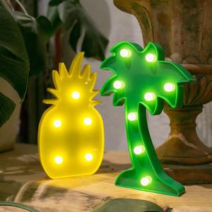 椰子樹 紅鶴 鳳梨 仙人掌 LED造型燈 裝飾燈 氣氛燈 小夜燈 【D900028】