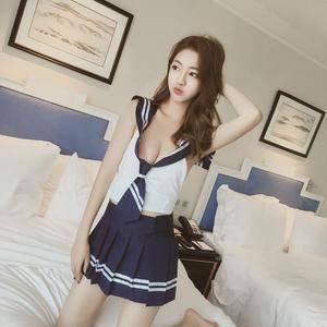 日韓cos制服短裙賣萌演出服水手服角色扮演情趣學生極度誘惑套裝