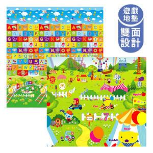 泰山美龍 兒童遊戲地墊 (火車ABC+動物樂園) 180*200*1.5cm