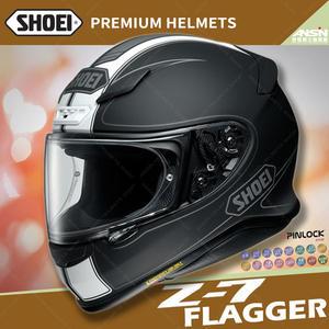 [中壢安信]日本 SHOEI Z-7 彩繪 FLAGGER TC-5 消光白黑 輕量 全罩 安全帽 小帽體 透氣 快拆