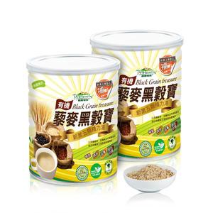 【普羅家族®】有機藜麥黑穀寶2入(800g/罐) 沖泡飲品 贈精美提袋