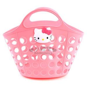 〔小禮堂韓國館〕Hello Kitty 軟式通風提籃《粉.大臉》2D立體裝飾 8805830-06430