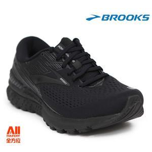 【BROOKS】男款支撐型慢跑鞋 Adrenaline GTS19系列 超寬楦 4E - 全黑色(944E071)-全方位跑步概念館
