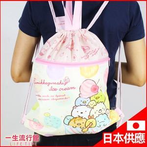 《日貨》角落生物 正版 兒童 卡通 大容量 束口 後背包 旅行包 (可A4) B15170