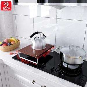 廚房置物架微波爐電磁爐支架子底座煤氣灶燃氣灶集成灶台蓋板罩子jy【快速出貨】