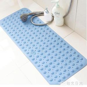 地墊無味兒童浴室防滑墊帶吸盤洗澡墊子衛浴塑膠pvc腳墊淋浴地墊橡膠  NMS 台北日光
