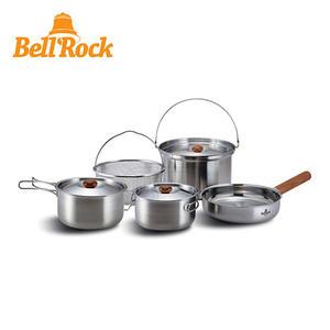 BELL ROCK 複合金不鏽鋼戶外炊具9件組COMBI9 BR-019 S/S套組
