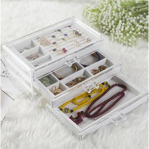 壓克力 透明手飾盒 珠寶盒 收納櫃 收納架 收納盒 飾品收納