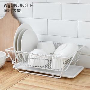 瀝水架餐具放碗碟碗筷置物架收納籃鐵藝廚房單層瀝水碗架瀝水架wy