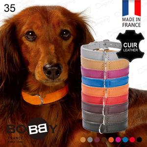 法國《BOBBY》銀環小羊皮項圈[35] 手工頂級小羊皮 真皮項圈 貴賓/馬爾濟斯/博美/雪納瑞
