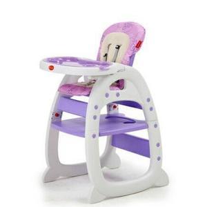[家事達] Mother's love-多功能二合一 兒童餐椅(餐椅+課桌椅)-紫色  特價 二用書桌餐椅