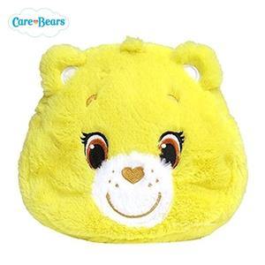 日本限定 Care Bears 彩虹熊 絨毛 收納包 / 化妝包 (黃)